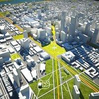 philadelphia skyline buildings 3D model