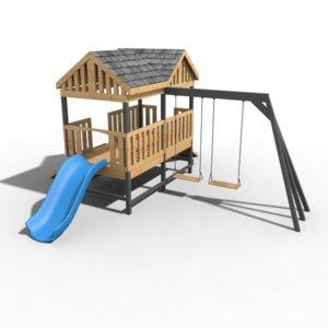 playground swing slide 3D model