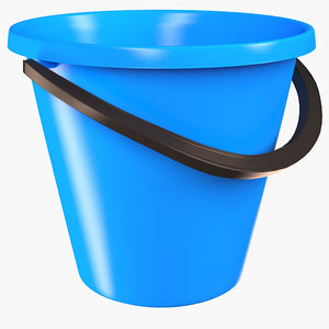 bucket container industrial 3D