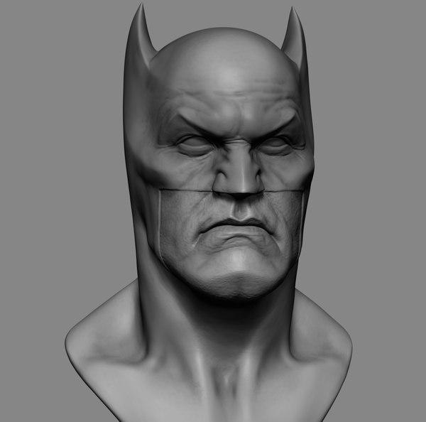 batman head 3D model