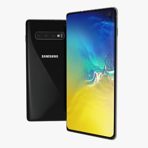 samsung galaxy s10 black 3D