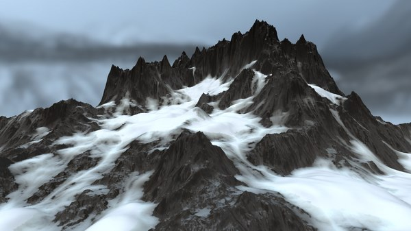snow mountain 1 3D model