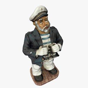 3D statue sailor model