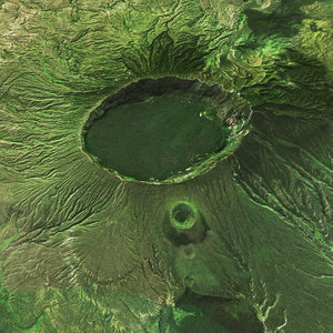3D model realistic meteor crater