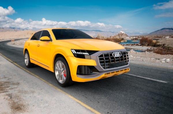 3D yellow q8 model