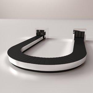 3D baggage carousel model