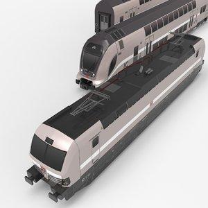 3D metro tube train