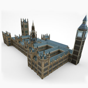 3D model palace westminster