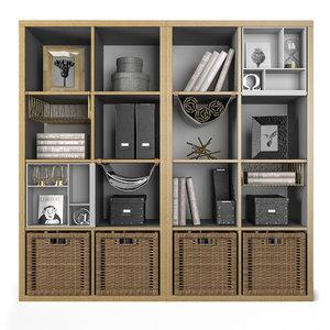 shelf unit kallax 3D model