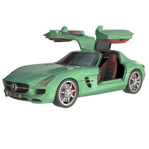 3D model mercedes benz sls