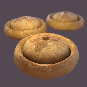 medieval meat pie 3D model