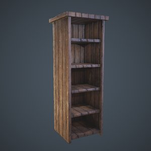 tall shelf 3D model