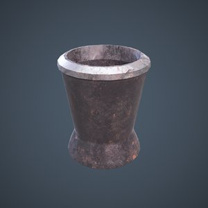 medieval tavern water cup 3D