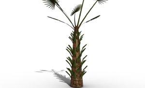 3D model windmill palm