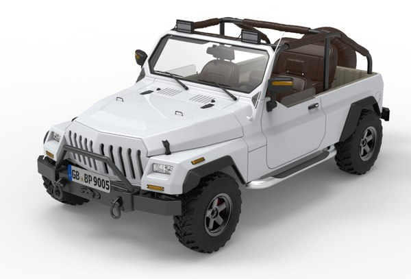 offroading vehicle 3D model