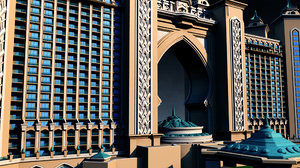 atlantis hotel palm jumeirah 3D model
