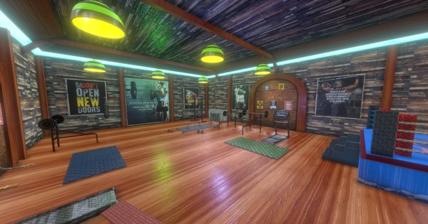 fighting gym environment 3D