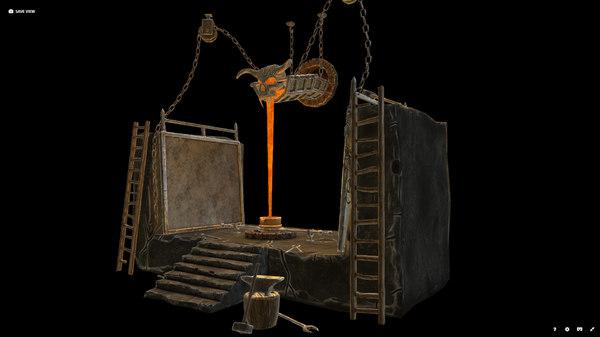 3D fundition videogame asset