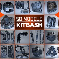 Kitbash 3d - 50 models