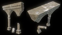 3D model videogame columns