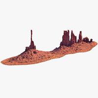 3D model sandstone butte 17