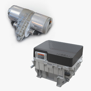 auto electric engines 3D model