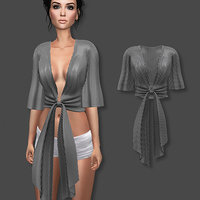 3D blouse striped