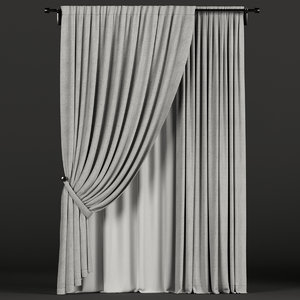 3D tulle gray