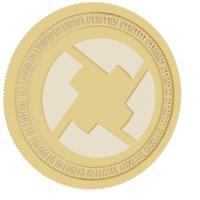 3D 0x gold coin model