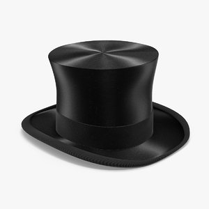 luxury black hat 3D