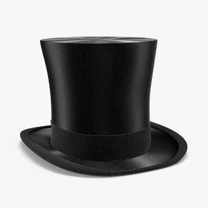 3D model tall hat