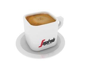 3D segafredo coffee cup
