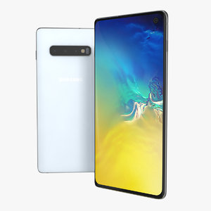 3D samsung galaxy s10 white model