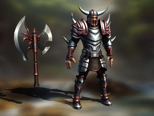 character barbarian warrior 3D model