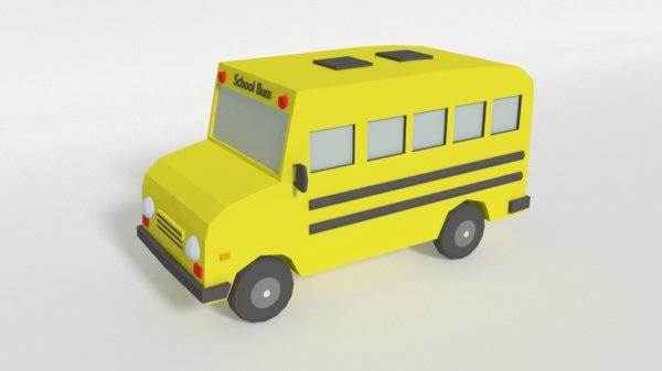 3D schoolbuss buss