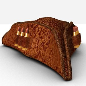 3D hat bullets model
