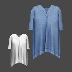 3d model of sweater blue