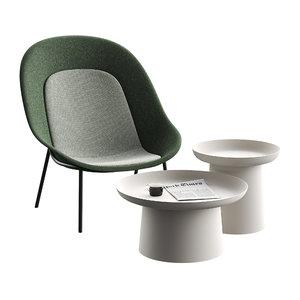 3D nook chair