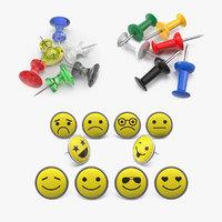 thumbtacks push pins model