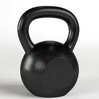 3D kettlebell gym equipment