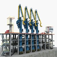 lng loading arm 02 3D