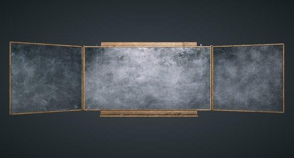 blackboard ready games 3D model