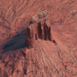 3D arizona mountain na model