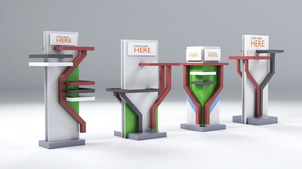 expo stand pipes 3D model