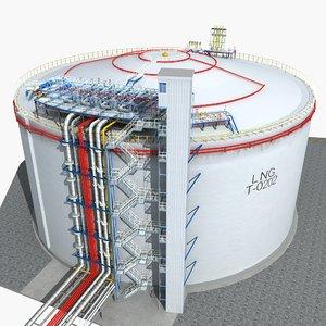 lng storage tank 3D model