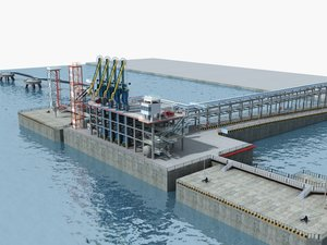 lng loading wharf model