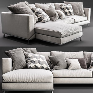 3D sofa boconcept fargo chaise lounge
