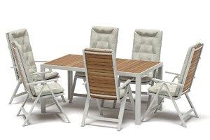 ikea sjalland outdoor table 3D