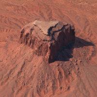 3D model arizona mountain