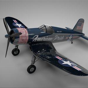 3D f4u corsair vought usa model